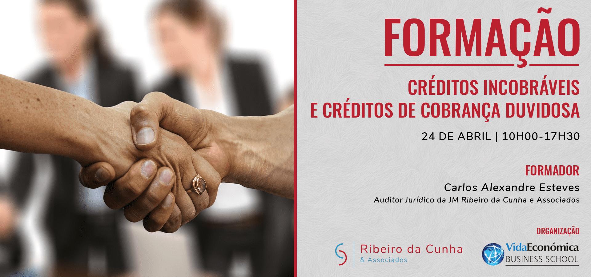 Ação de formação Crédito Incobráveis e Créditos de Cobrança Duvidosa - JMRC & Associados | Vida económica